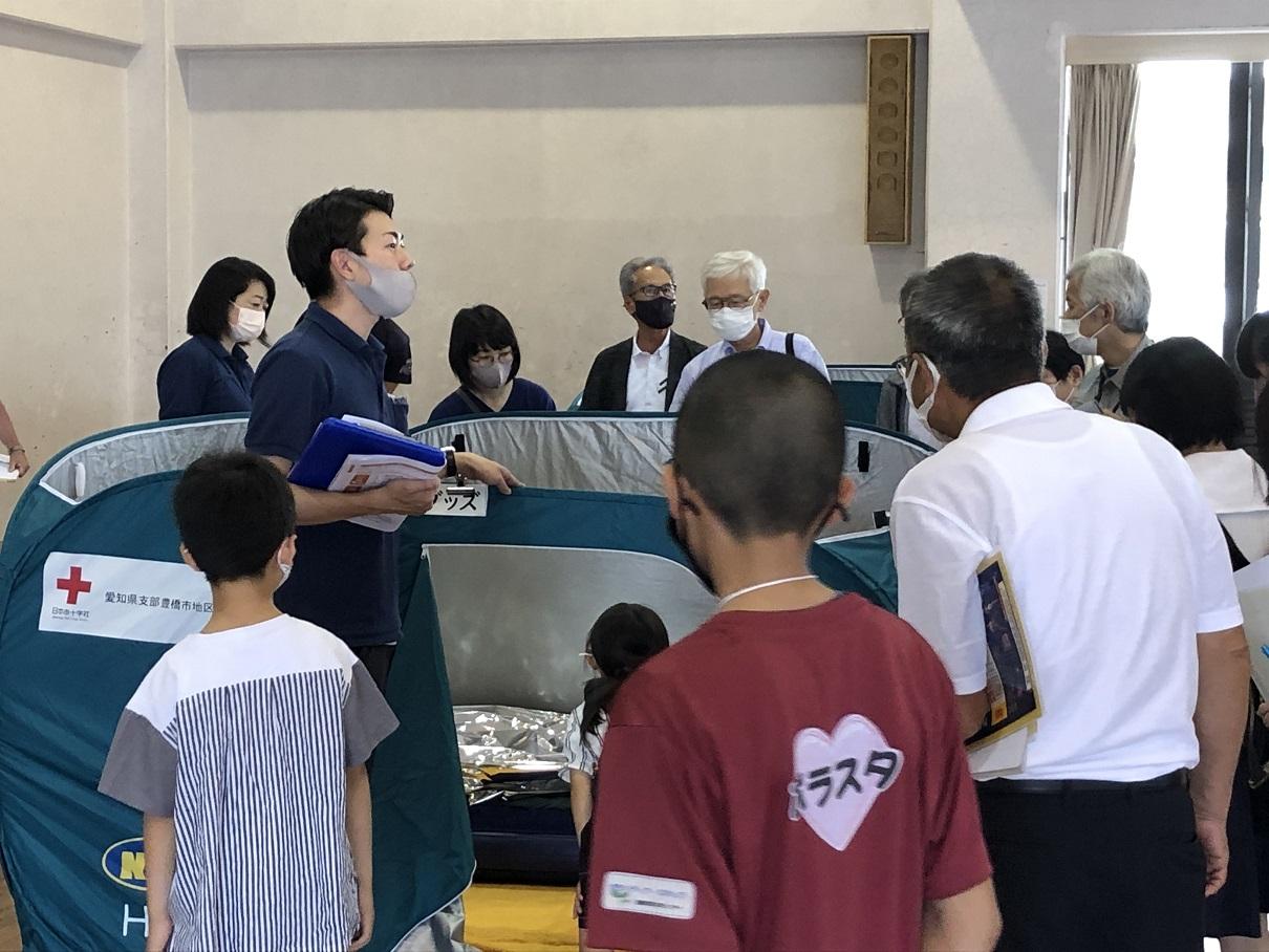 避難所体験講座の写真その2